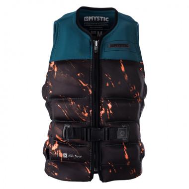 Mystic Stone Orange Wakeboard Impact Vest Frontzip