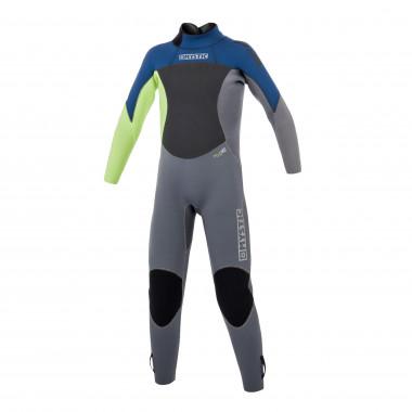 Mystic Star Fullsuit 3/2mm Bzip Flatlock Junior Navy Wetsuit