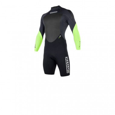 Mystic Star 32 Longarm shorty Backzip Lime wetsuit 2018
