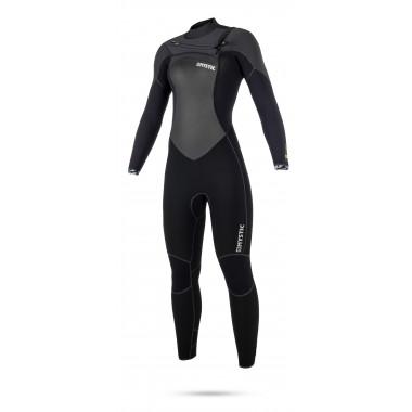 Mystic Gem 5/3 Frontzip Black dames wetsuit 2018